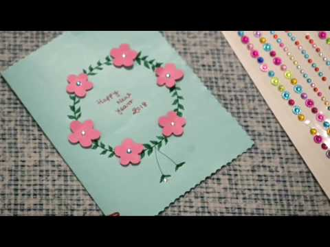 How to make 5 NEW YEAR GREETING CARDS l Easy & Simple l 5 Sweet & Cute Cards l Sangita's Creation l
