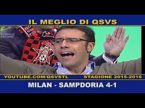 qsvs: i gol di milan - sampdoria 4 a 1