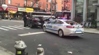 "NYPD CTB CRUISER, ""COUNTER TERRORISM BUREAU\"", CONDUCTING TRAFFIC STOP ON DUANE ST. IN TRIBECA, NYC"