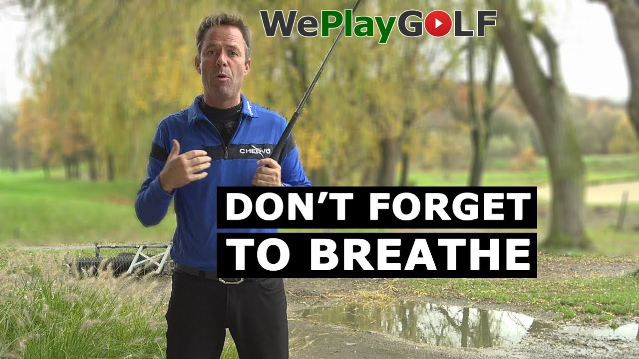 Don't forget to breathe! Control your breathing to improve your swing!