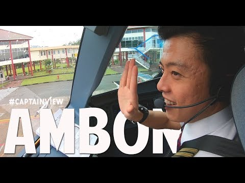 ( CAPT VIEW ) Airbus A320 Pattimura Airport - by Vincent Raditya ( BATIK AIR ) - Cockpit Video