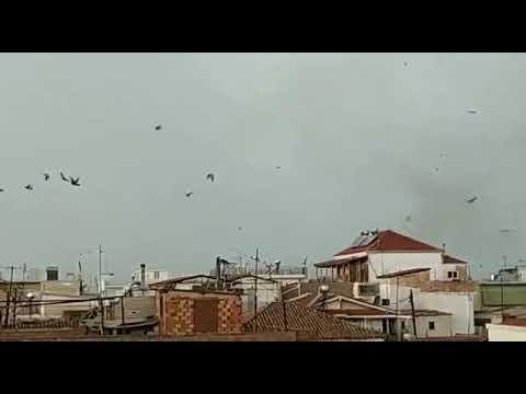 Βίντεο-ντοκουμέντο: Ανεμοστρόβιλος «χτύπησε» την Καλαμάτα (Photos-Video)