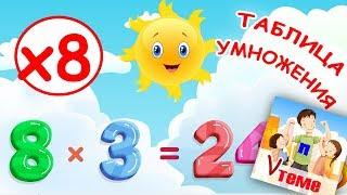 Музыкальная таблица умножения на 8. Развивающее видео для детей