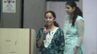 Extempore Competition at PCTI