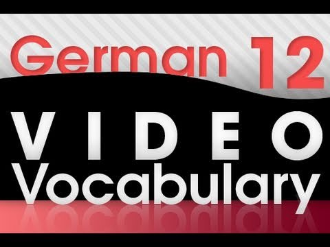 Learn German – Video Vocabulary #12