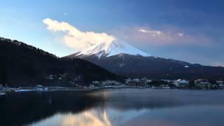 富士山河口湖縮時攝影