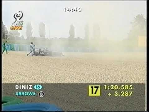F1 France 1998 FP1 Diniz spins (DF1)