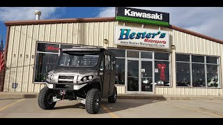 "5. 2020 Kawasaki Mule Pro FXT Ranch ""Hester Edition"" Cab, Heat, A/C And more!"