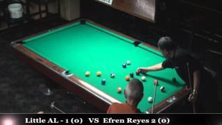#1 - Efren Reyes Vs 'Little' Al Romero / July 2014