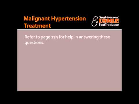Malignant Hypertension Treatment - Nitroprusside & Fenoldopam