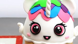 ICE CREAM  Unicorn KAWAII Cake How To by CakesStepbyStep