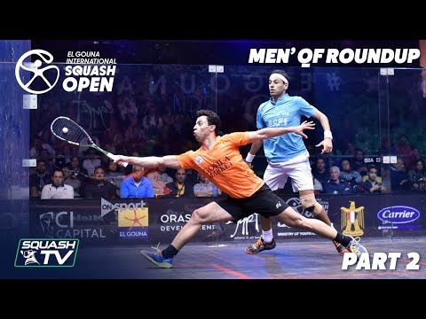 Squash: El Gouna International 2019 - Men's QF Round Up [P2]