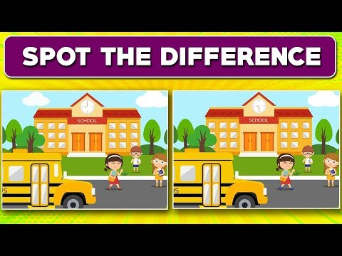 Spot the difference for kids (part 3): 10 Best spot the difference puzzles (2018)