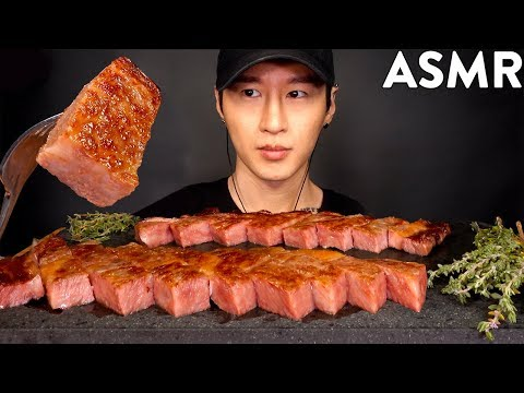 ASMR A5 JAPANESE WAGYU MUKBANG (No Talking) COOKING & EATING SOUNDS | Zach Choi ASMR