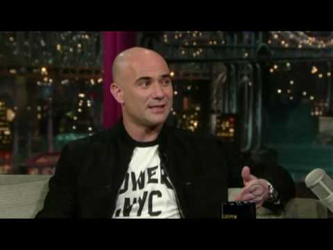 Andre Agassi on David Letterman (Complete) 1/2