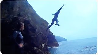 Saint Agnes United Kingdom  City new picture : Awesome Cliff Jumping in St. Agnes, UK | Ice Water