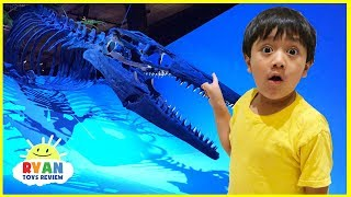 Dinosaur Science Children's Museum for kids with Ryan ToysReview