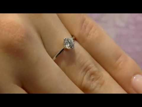 0.45 Carat Round Cut Diamond Solitaire Engagement Ring SR1041