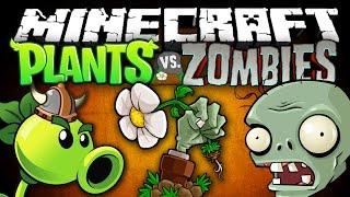 PLANTS VS ZOMBIES В МАЙНКРАФТ | Зомби против Растений (Обзор Модов #79)
