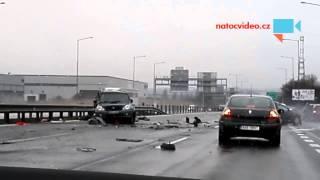 VIDEO z nehody dvou aut na D1! EXKLUZIVNĚ hned po nehodě