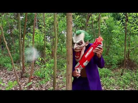 Nerf War : Special Action Movie Criminal Police SWAT Nerf Guns 2017 vs  Superhero guns