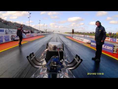 Time Traveller II ,2014 at Santa Pod Raceway, driver: Bob Hawkins.