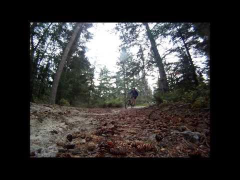 Secret mountian bike trail in Manitoba (видео)