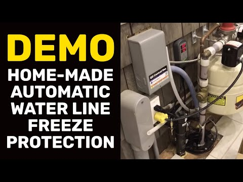 DEMO: Home-Made Automatic Water Line Freeze Protection