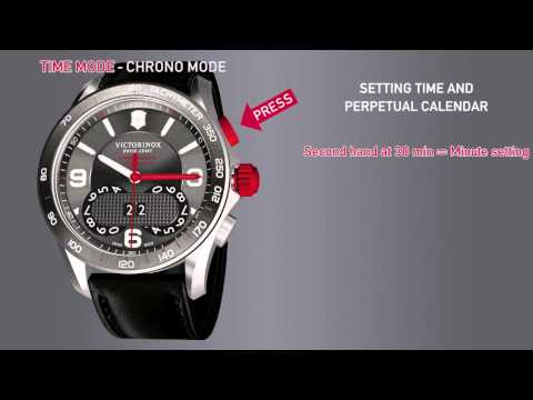 Victorinox Swiss Army 1/100th Second Chrono Classic Instruction Video