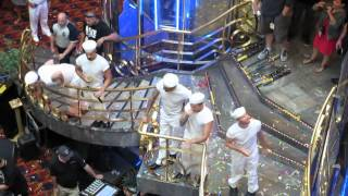 """Backstreet Boys Cruise 2014 - Sail Away Party """"Nick shot me in the ass!""""  (Vid 1 of 3)"""