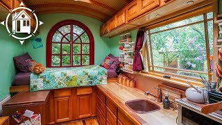 Independent Woman Lives Simply in a Tiny House Community