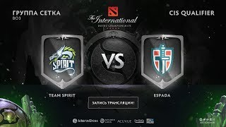 Team Spirit vs Espada, The International CIS QL, game 1 [Lex, 4ce]