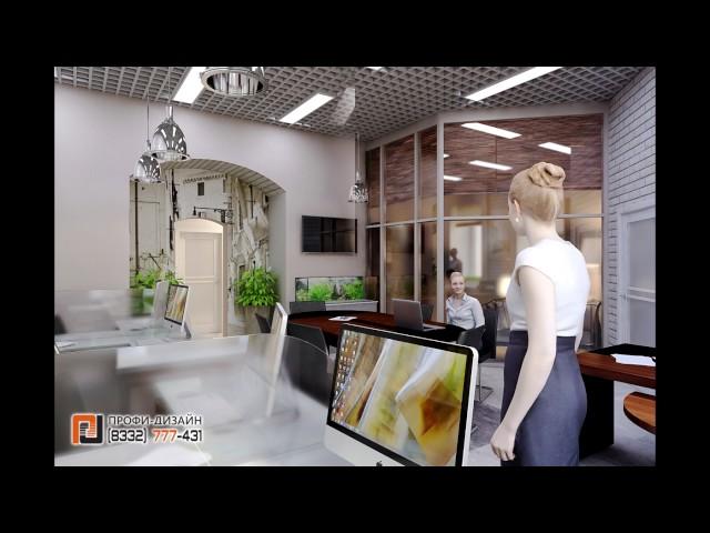 Дизайн интерьера офиса в стиле лофт.