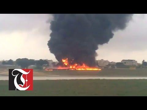 Anti-smuggling plane crashes in Malta, five killed