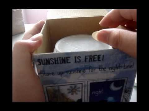 lightake:Sun Jar Multi-Color LED Night Light Sensor Solar Panel Lamp