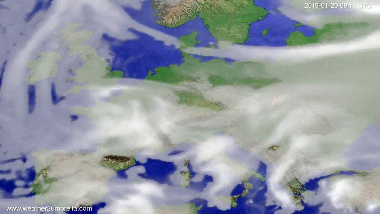 Cloud forecast Europe 2019-01-16