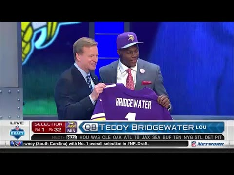 2014 NFL Draft Rd 1 Pk 32 | Minnesota Vikings Select QB Teddy Bridgewater