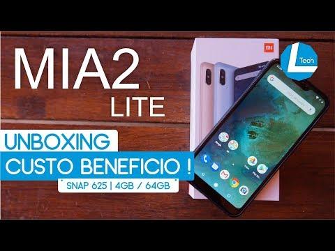 BOM, BONITO e BARATO Xiaomi MiA2 Lite Unboxing | L Tech