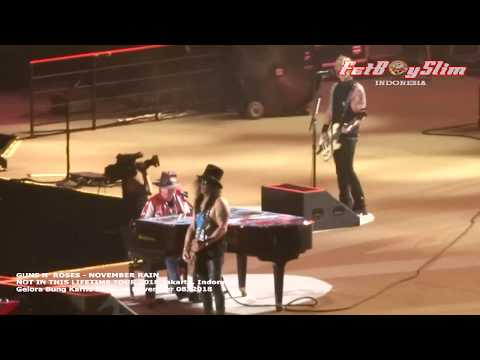 GUNS N ROSES - NOVEMBER RAIN Live In JAKARTA 2018 NOT IN THIS LIVE TOUR 2018