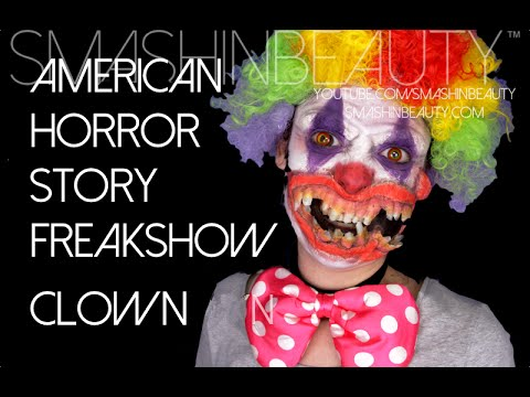 American Horror Story Freakshow Scary Clown Halloween Makeup Tutorial 2014
