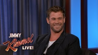 Download Video Chris Hemsworth Reveals Where He Keeps His Hammer MP3 3GP MP4