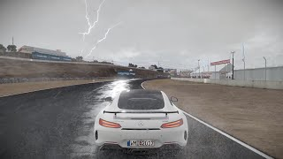 Project Cars 2 Mercedes Benz S Coupe AMG GT R @ Mazda Raceway Laguna Seca in Heavy Rain + Thunderstorm Weather.4K HD Quality 60 FPS. WIP Build - work in progressProject Cars 2 Release date: September 22 2017 PC/Xbox One/PS4Subscribe for more.Support me/Donate: https://youtube.streamlabs.com/UCfVhjM2_XVvO5eGbOK-MO0AFollow me on Twitter: https://twitter.com/ChrisZanarBecome my Patreon: https://www.patreon.com/ZanarAesthetics