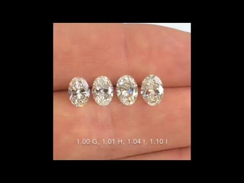 Comparing Oval cut Diamonds: 1.00-1.10 ct G-H-I color, SI clarity