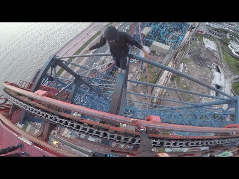 CLIMBING TALLEST ROLLERCOASTER IN ENGLAND (The big one)