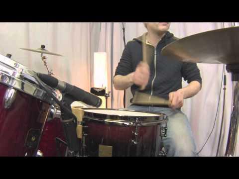 12x8 Cube Beech Snaredrum & Rosewood Gretsch Drums (funky, drum'n' bass)