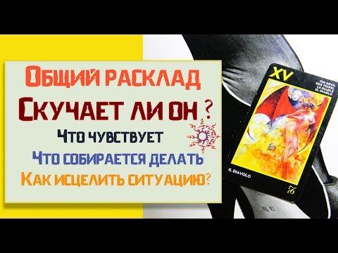 😍Скучает ли он Что он чувствует Что будет делать/ Онлайн расклад таро - DomaVideo.Ru
