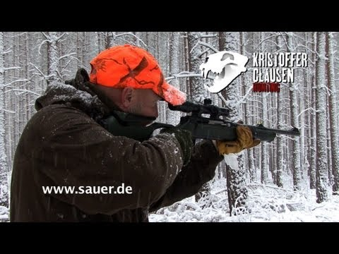 Kristoffer Clausen on a driven hunt using the Sauer 303