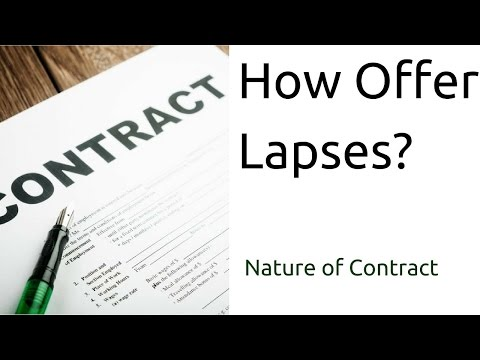 How Offer Lapses | Nature of Contract | Offer | CA CPT | CS & CMA Foundation