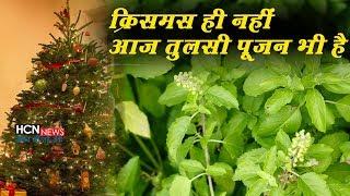 Christmas ही नहीं आज Tulsi Pujan भी है। देखें तुलसी पुजन की कहानी। Tulsi Mata Ki Aarti   HCN News