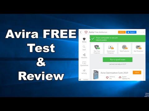 Avira FREE Antivirus Test & Review 2019
